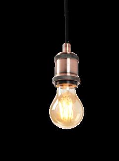 Hanglamp Oslo E27 Antiek Goud en Plafondkap Brons Inc.  Filament Lamp A60