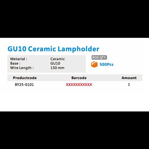 GU10 Fitting- Keramisch Kabel 150 mm