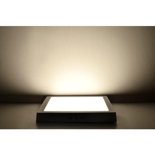 LED Downlight Opbouw Plafondlamp Vierkant | 24W | 3000K Warm Wit