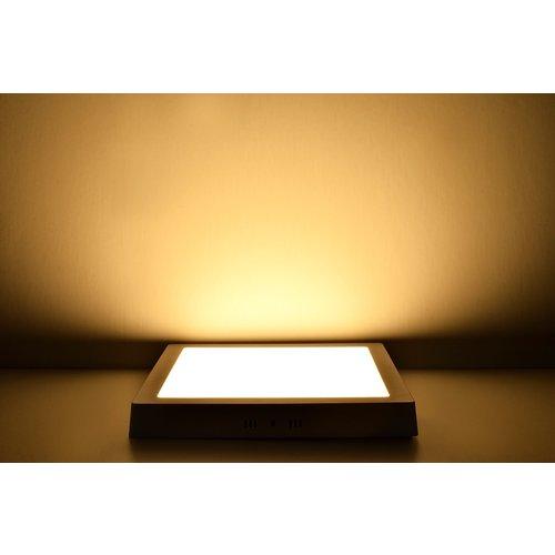 LED Downlight Opbouw Plafondlamp Vierkant | 18W | 3000K Warm Wit