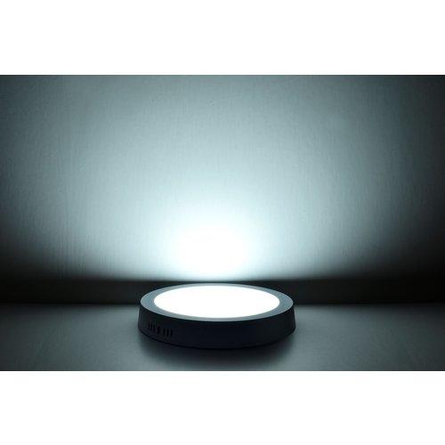 LED Downlight Opbouw Plafondlamp Rond | 12W | 6400K Koud Wit