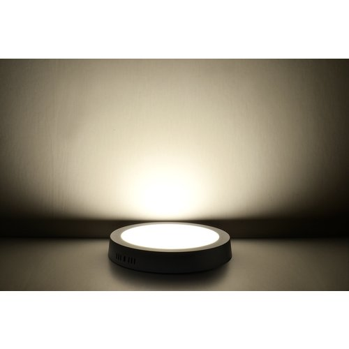 LED Downlight Opbouw Plafondlamp Rond | 6W | 3000K Warm Wit