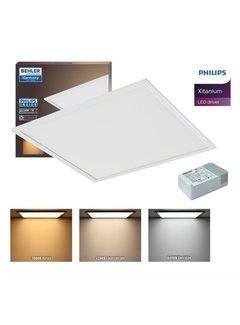 Beghler Beghler 60x60 Led Paneel 32W UGR≤19   CCT Changeable Kleur   Incl. PHILIPS XITANIUM Driver