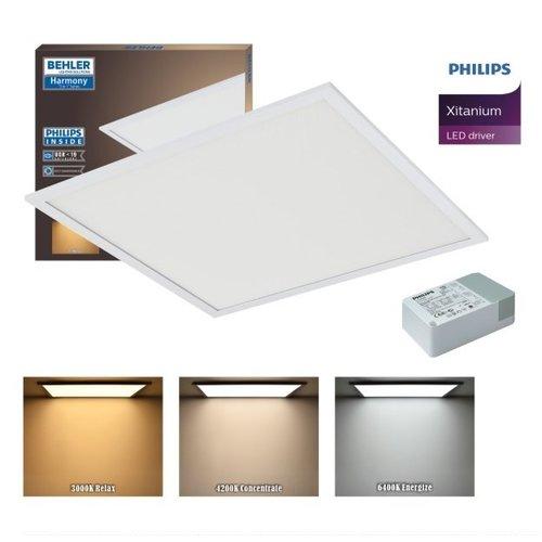 LED Paneel 60x60cm 32W UGR≤19 | Verwisselbare kleur [3 in 1] | inclusief PHILIPS XITANIUM Driver