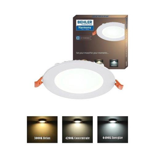 LED Downlight | 6W | Verwisselbare kleur [3 in 1] | inbouw Plafondlamp Rond