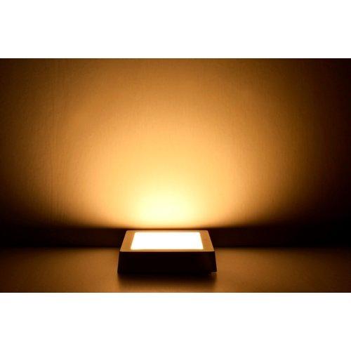 LED Downlight | 6W | Verwisselbare kleur [3 in 1] | Opbouw Plafondlamp Vierkant