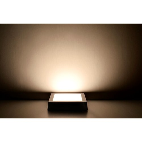 LED Downlight | 12W | Verwisselbare kleur [3 in 1] | Opbouw Plafondlamp Vierkant