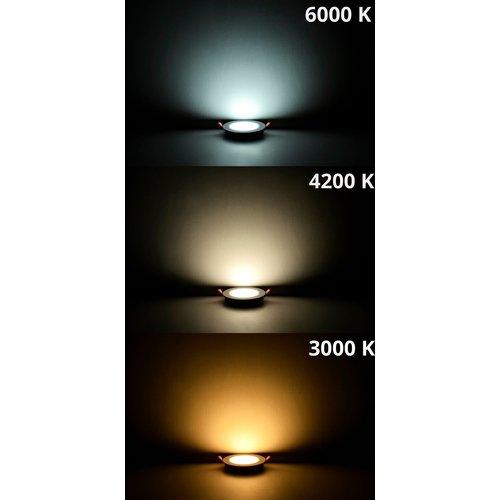 LED Downlight | 12W | Verwisselbare kleur [3 in 1] | inbouw Plafondlamp Rond