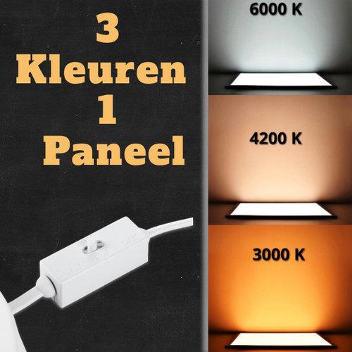 LED Downlight | 18W | Verwisselbare kleur [3 in 1] | Opbouw Plafondlamp Vierkant