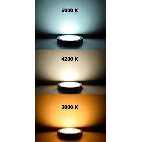 LED Plafondlamp met sensor - 360° - 18W - Verwisselbare kleur [3 in 1] -  1500 L - Rond