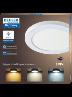 Beghler 18W Inbouw Sensor Lamp LED - CCT Changeable Kleur - Kantelbaar