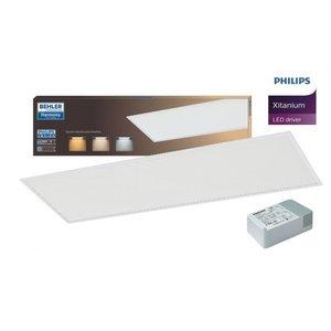 LED Paneel 30x120cm 32W UGR≤19 |  6400K Koud wit | inclusief PHILIPS XITANIUM Driver
