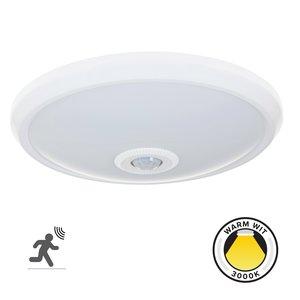 LED Plafondlamp met bewegingssensor - 360° - 3000K -  840 L - Rond - 12W -  Warm Wit