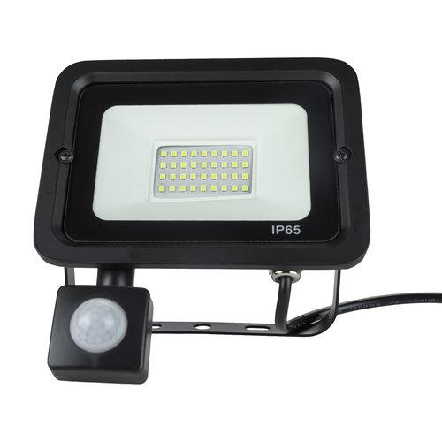 LED Breedstraler met bewegingssensor | 30W | IP65 Waterdicht | 6400K Koud Wit