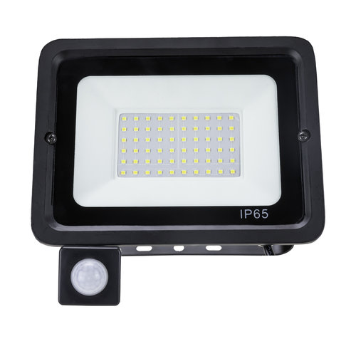 LED Breedstraler met bewegingssensor | 50W | IP65 | 6400K Koud Wit