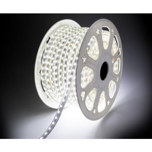 LED Strip Koud Wit | 50 Meter | IP65 Waterdicht | 6400K | 220V - 240V | SMD 5050 | Plug & Play