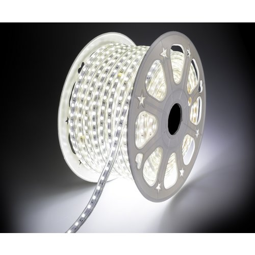 LED Strip Koud Wit | 10 Meter | IP65 Waterdicht | 6400K | 220V - 240V | SMD 5050 | Plug & Play