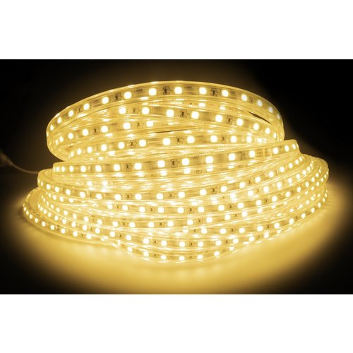 LED Strip Warm Wit | 50 Meter | IP65 Waterdicht | 3000K | 220V - 240V | SMD 5050 | Plug & Play