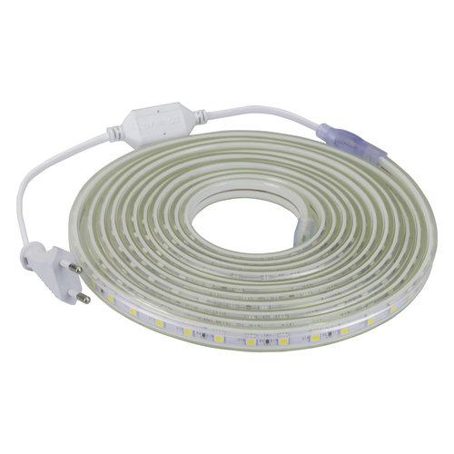LED Strip Warm Wit | 10 Meter | IP65 Waterdicht | 3000K | 220V - 240V | SMD 5050 | Plug & Play