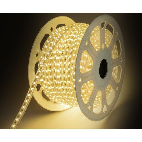 LED Strip Warm Wit | 5 Meter | IP65 Waterdicht | 3000K | 220V - 240V | SMD 5050 | Plug & Play