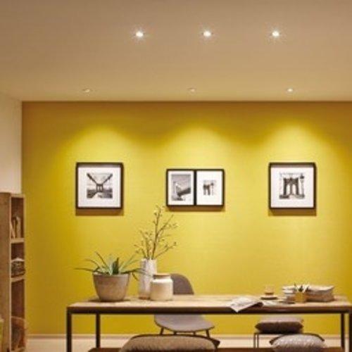 LED inbouwspots Nikkel Rond | Kantelbaar en Dimbaar | Set van 5 | Inclusief 5W GU10 Spot