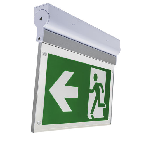 LED Noodverlichting | 3W | IP65 Waterdicht | Opbouw | Kantelbaar inclusief pictogram