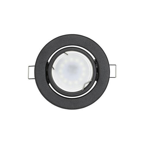 LED inbouwspots Mat Zwart Rond | Kantelbaar en Dimbaar | Inclusief 5W GU10 Spot