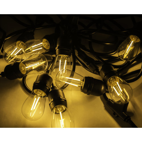 LED Lichtsnoer | 10 Meter | 12 Lampen | Warm Wit