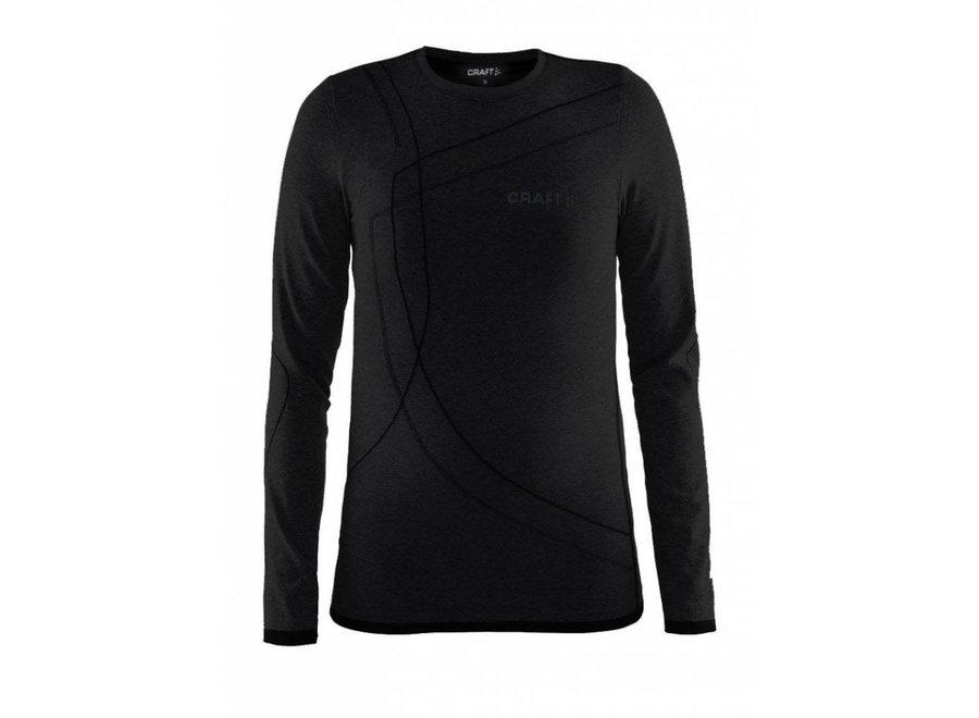 Active Comfort Roundneck Longsleeve - Black Solid