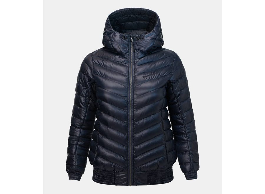 Hooded Ice Down Jacket - Salute Blue