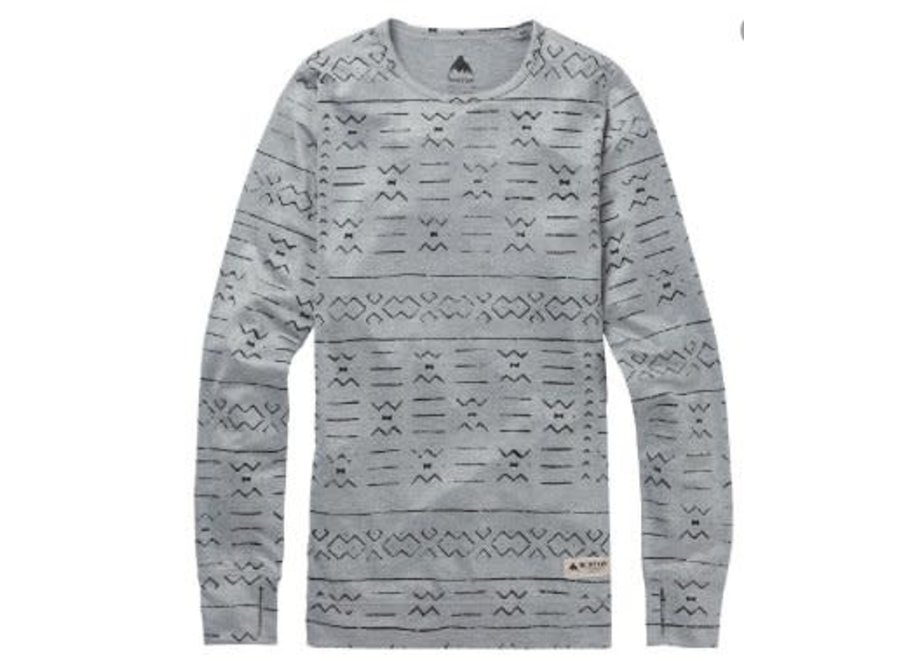 Midweight Shirt - Grayscale Bogolanfini