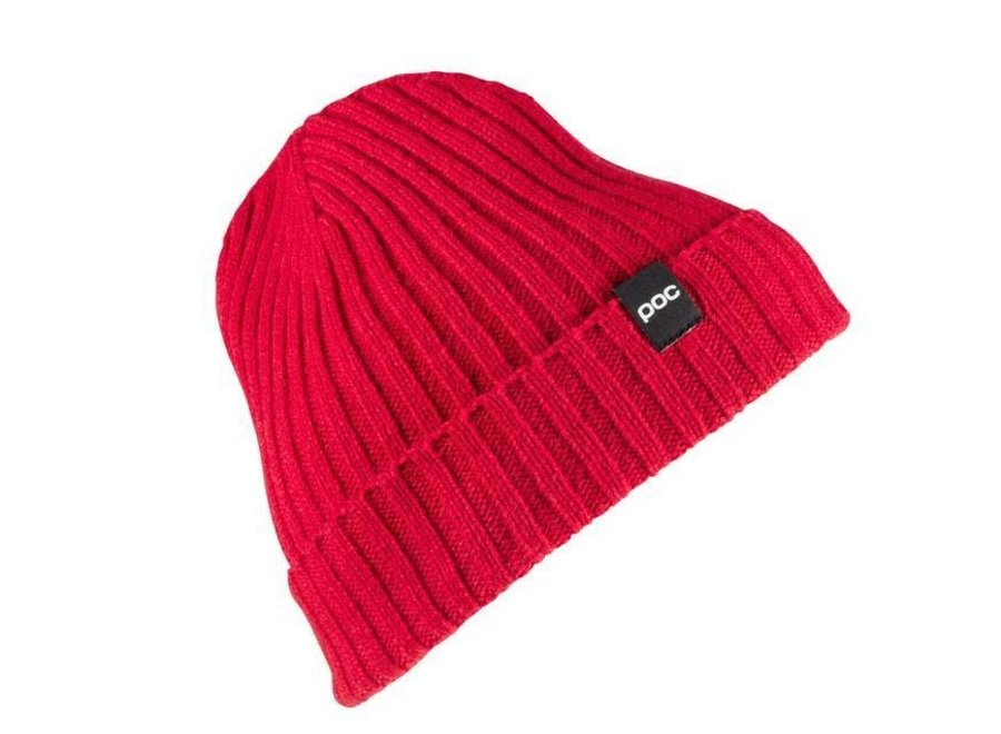 Ribbed Knit Beanie - Glucose Red
