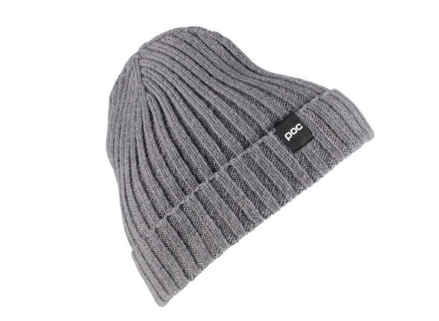 Ribbed Knit Beanie - Steel Grey