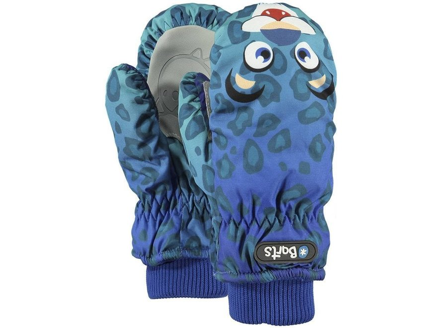 Nylon Mitts Kids - Leopard Blue