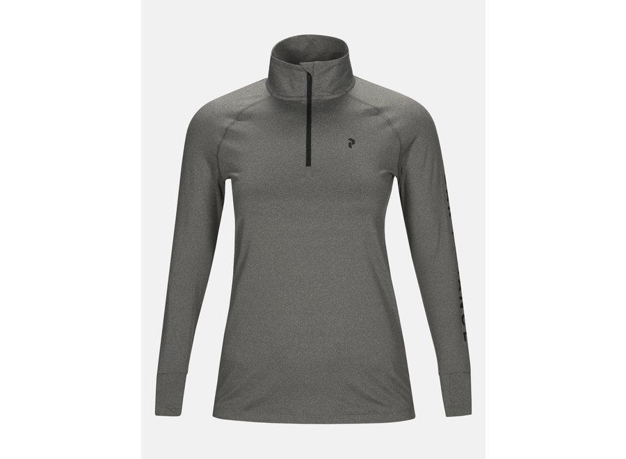 Spirit Half Zip – Grey Melange