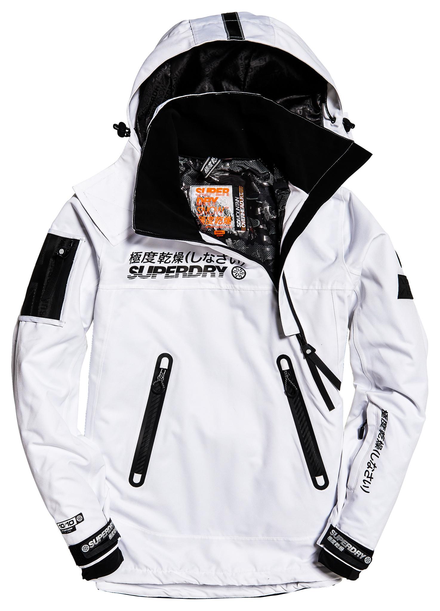 Superdry Men's Snow Rescue Overhead Jacket – Arctic White