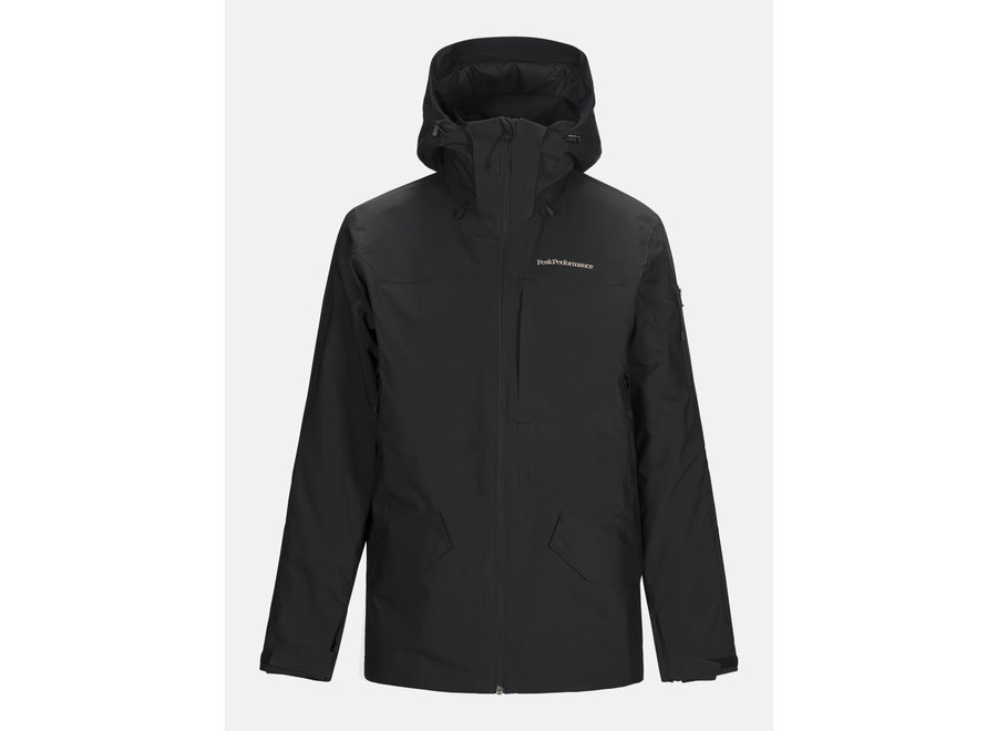 Maroon Long Jacket – Black