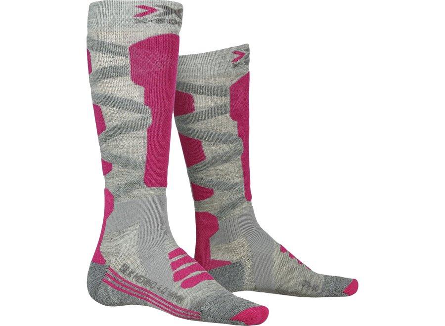 Ski Silk Merino 4.0 - Grey / Pink