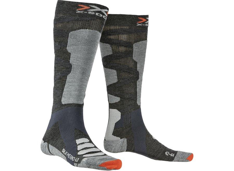 Ski Silk Merino 4.0 - Anthracite / Grey