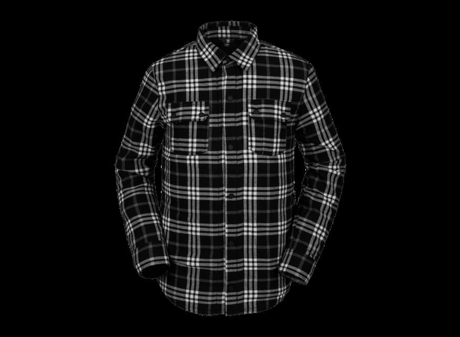 Sherpa Flannel Jacket – Black