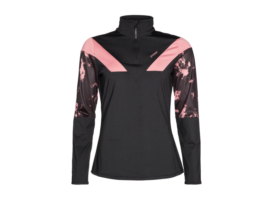 Bubble ¼ Zip Top – Think Pink