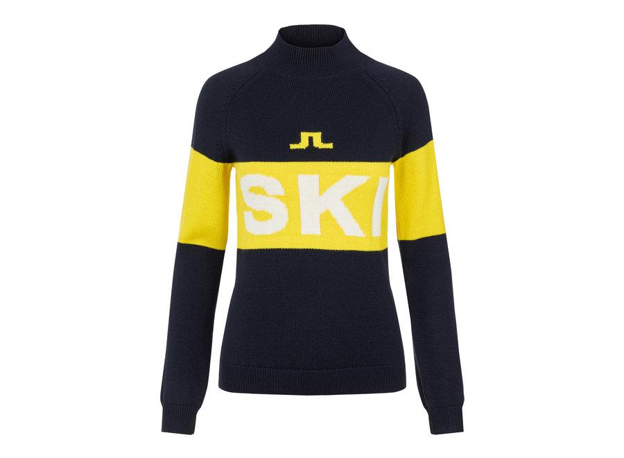 Alva Knitted Ski Sweater – JL Navy