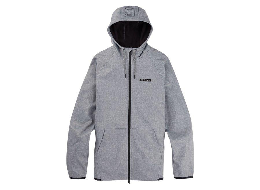 Crown Weatherproof Full-Zip Fleece – Gray Heather