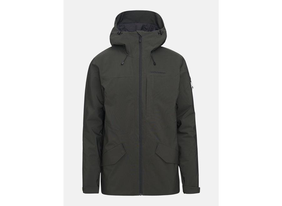Maroon Long Jacket – Coniferous Green