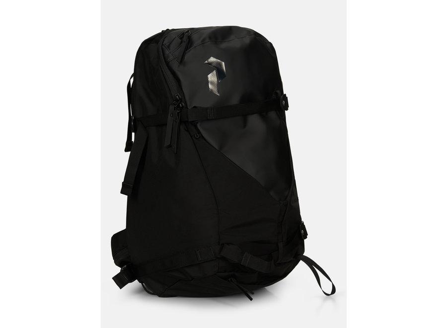 Vertical Ski Backpack – Black