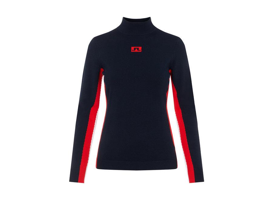 Kay Knitted Ski Sweater – JL Navy