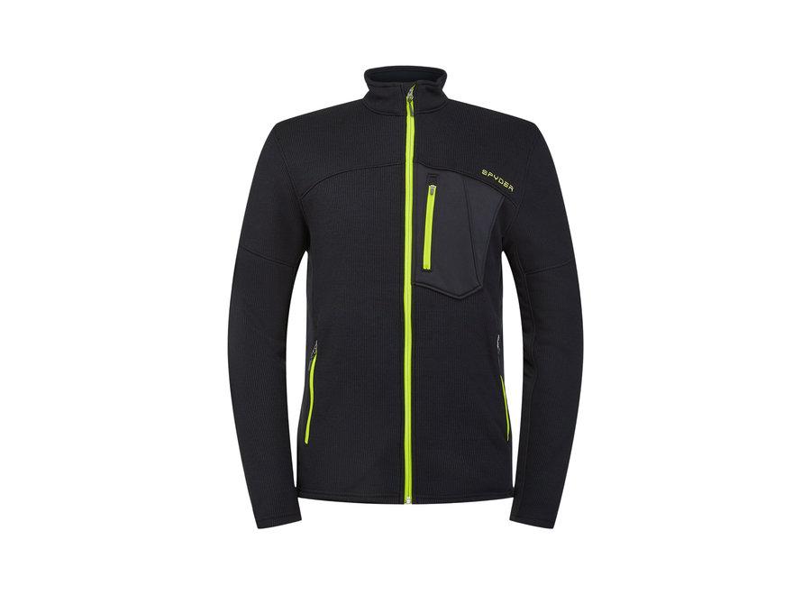 Bandit Full Zip Mid Layer – Black Sharp Lime