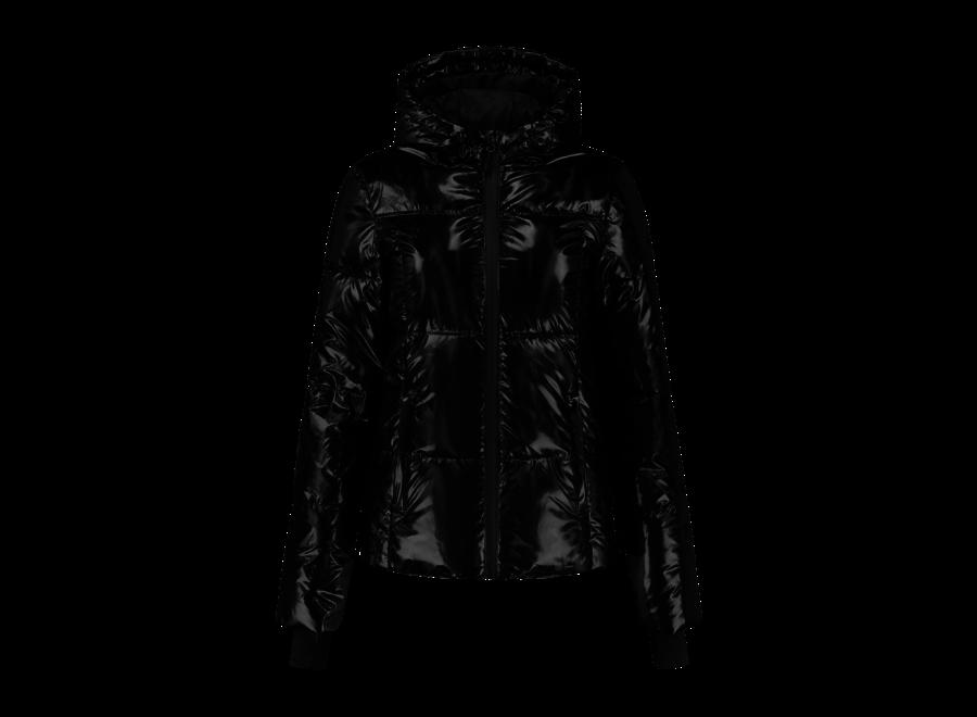 Logo Holographic Ski Jacket – Black