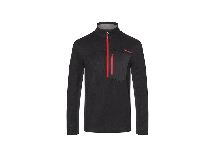 Bandit Half Zip Mid Layer – Black Red
