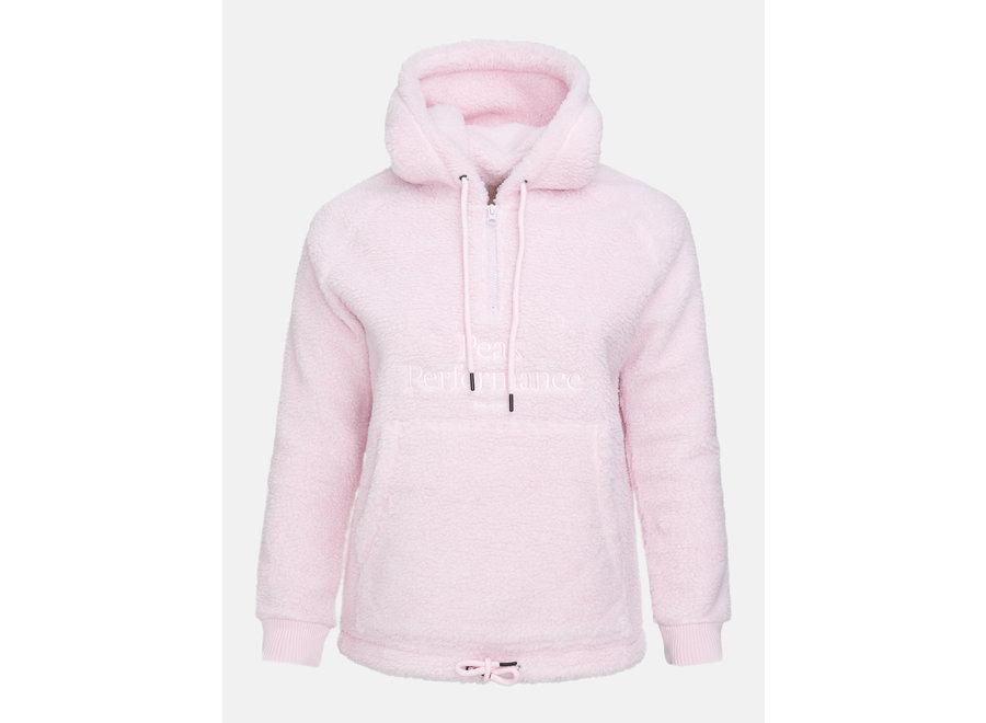Original Pile Half Zip Hood – Cold Blush